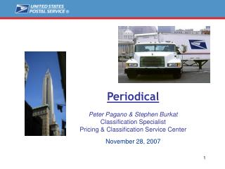 Periodical Peter Pagano & Stephen Burkat Classification Specialist