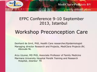 EFPC Conference 9-10 September 2013, Istanbul