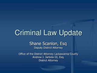 Criminal Law Update