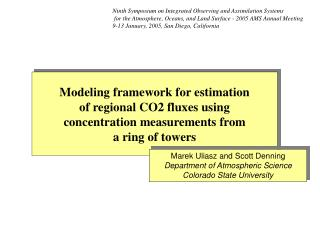 Modeling framework for estimation  of regional CO2 fluxes using concentration measurements from