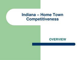 Indiana – Home Town Competitiveness