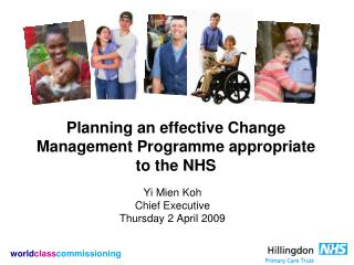 Planning an effective Change Management Programme appropriate to the NHS