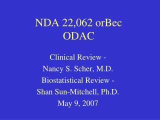 NDA 22,062 orBec ODAC