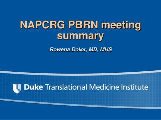 NAPCRG PBRN meeting summary