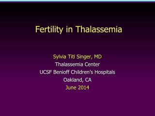 Fertility in Thalassemia