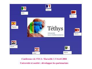 Conférence de l'EUA  Marseille 1-3 Avril 2004 Université et société : développer les partenariats