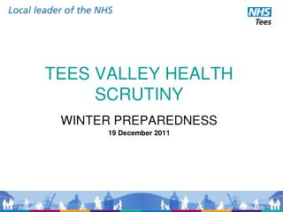TEES VALLEY HEALTH SCRUTINY