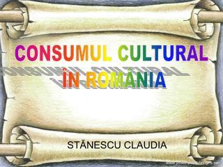 STĂNESCU CLAUDIA
