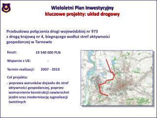 Wieloletni Plan Inwestycyjny kluczowe projekty: układ drogowy