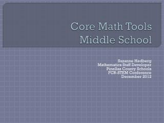 Core Math Tools Middle School