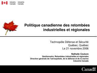 Politique canadienne des retombées industrielles et régionales