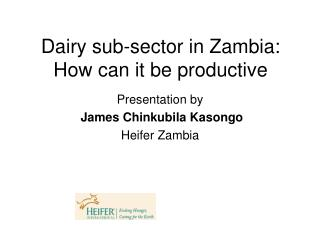 Dairy sub-sector in Zambia: How can it be productive