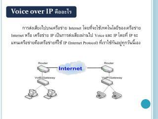 Voice over IP  คืออะไร