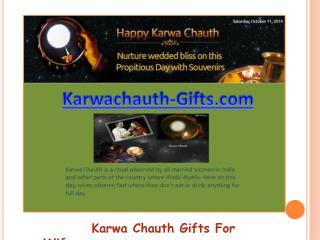 Karwachauth Gifts for WIfe
