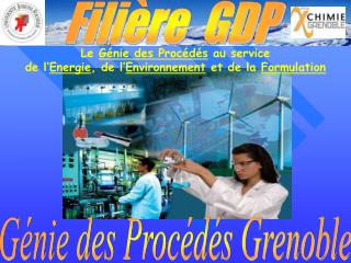 Le  Génie des Procédés  au service  de l' Energie , de l' Environnement  et de la  Formulation