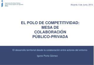 EL POLO DE COMPETITIVIDAD: MESA DE COLABORACIÓN              PÚBLICO-PRIVADA