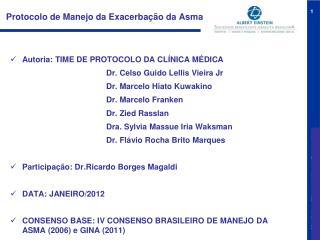 Protocolo de Manejo da Exacerbação da Asma
