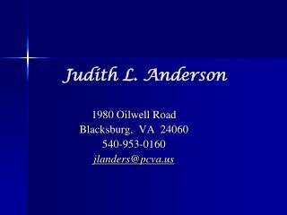 Judith L. Anderson