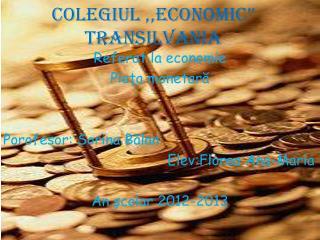 """Colegiul ,,Economic"""" Transilvania"""