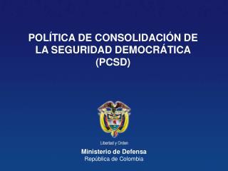 Ministerio de Defensa Rep�blica de Colombia