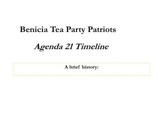 Benicia Tea Party Patriots