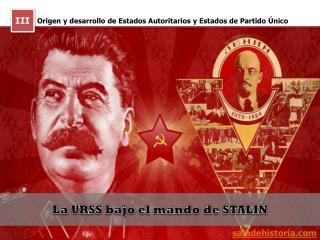 Origen y desarrollo de Estados Autoritarios y Estados de Partido Único