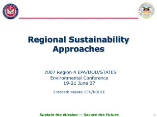 Regional Sustainability Approaches