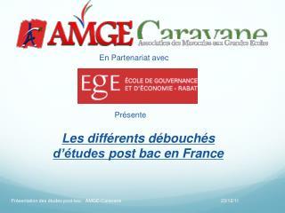 Les  différents débouchés d'études  post  bac  en France