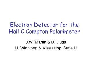 Electron Detector for the Hall C Compton Polarimeter