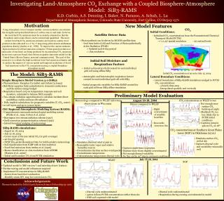 Investigating Land-Atmosphere CO 2  Exchange with a Coupled Biosphere-Atmosphere Model:  SiB3-RAMS