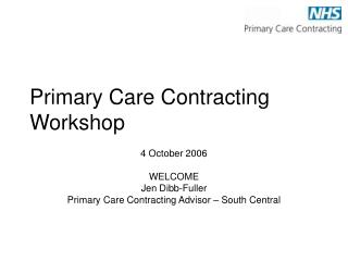 Primary Care Contracting Workshop