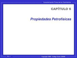 Propiedades Petrofísicas