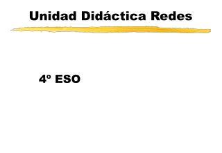 Unidad Didáctica Redes