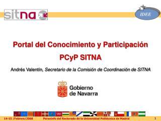 Portal del Conocimiento y Participación  PCyP SITNA