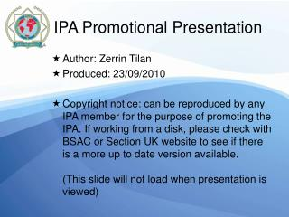 IPA Promotional Presentation 2010