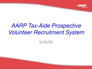 AARP Tax-Aide Prospective Volunteer Recruitment System