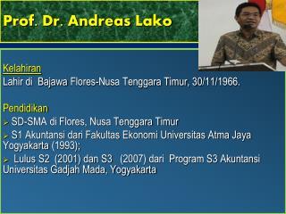 Prof. Dr. Andreas  Lako