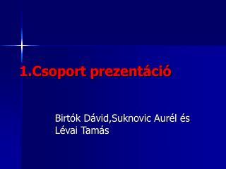 1.Csoport prezentáció