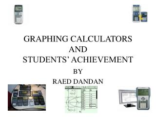 GRAPHING CALCULATORS AND STUDENTS' ACHIEVEMENT