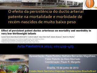 Acta Pædiatrica 2012; 101:419–423