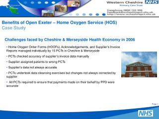 Challenges faced by Cheshire & Merseyside Health Economy in 2006