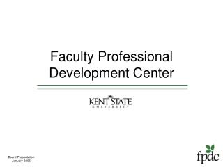Faculty Professional  Development Center