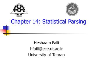 Chapter 14:  Statistical Parsing
