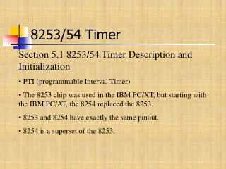 8253/54 Timer