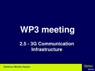 WP3 meeting