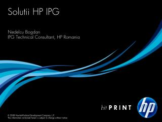 Solutii HP IPG
