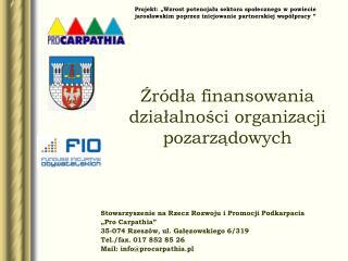 """Stowarzyszenie na Rzecz Rozwoju i Promocji Podkarpacia  """"Pro Carpathia"""""""