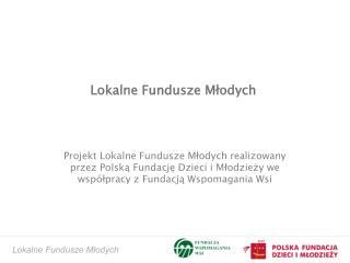 Lokalne Fundusze Młodych
