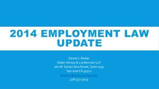 2014 Employment Law update
