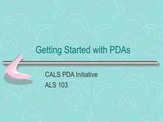 Getting Started with PDAs
